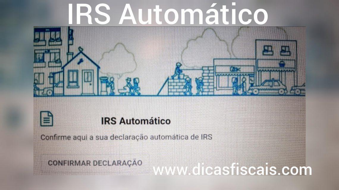 O IRS Automático em 2020