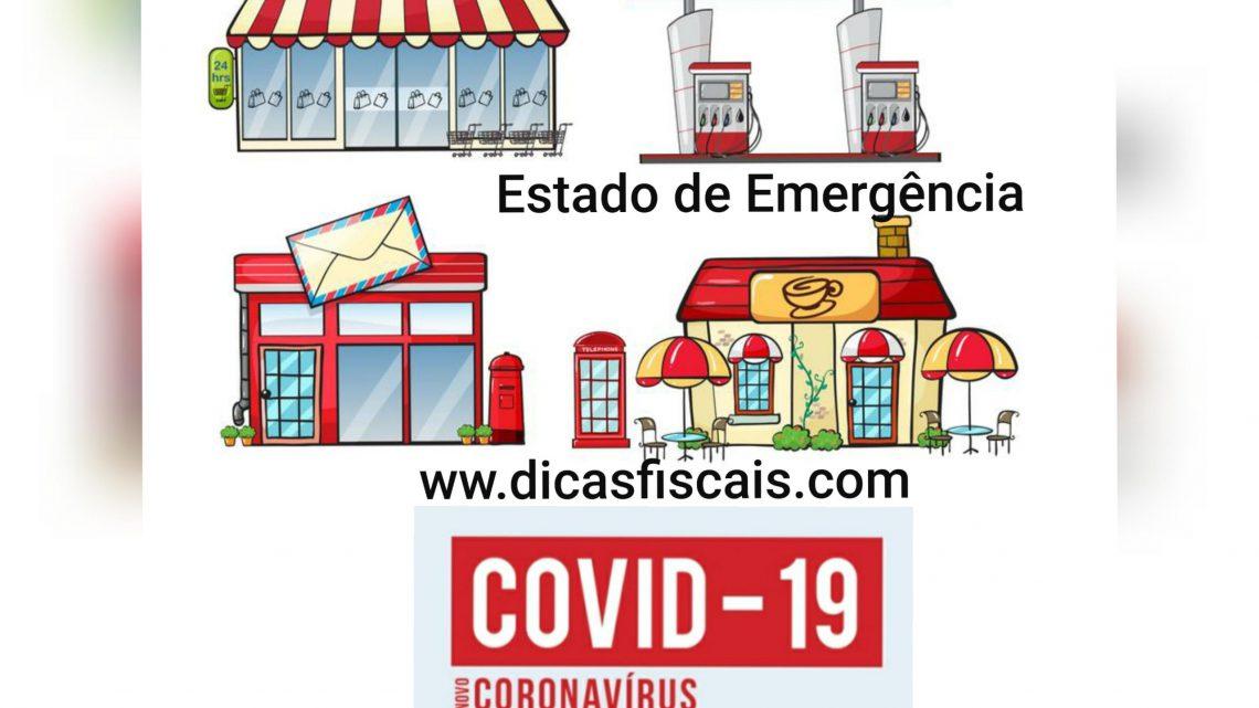 Atividades autorizadas no Estado de Emergência